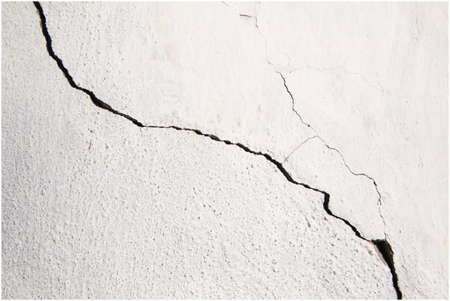 cracks, plastering