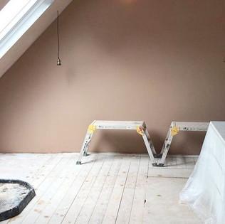Plastering loft conversion