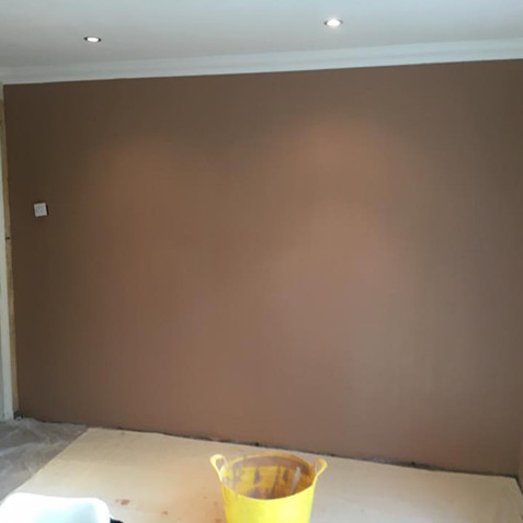 Wall after plastering