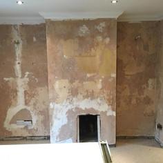 Before plastering