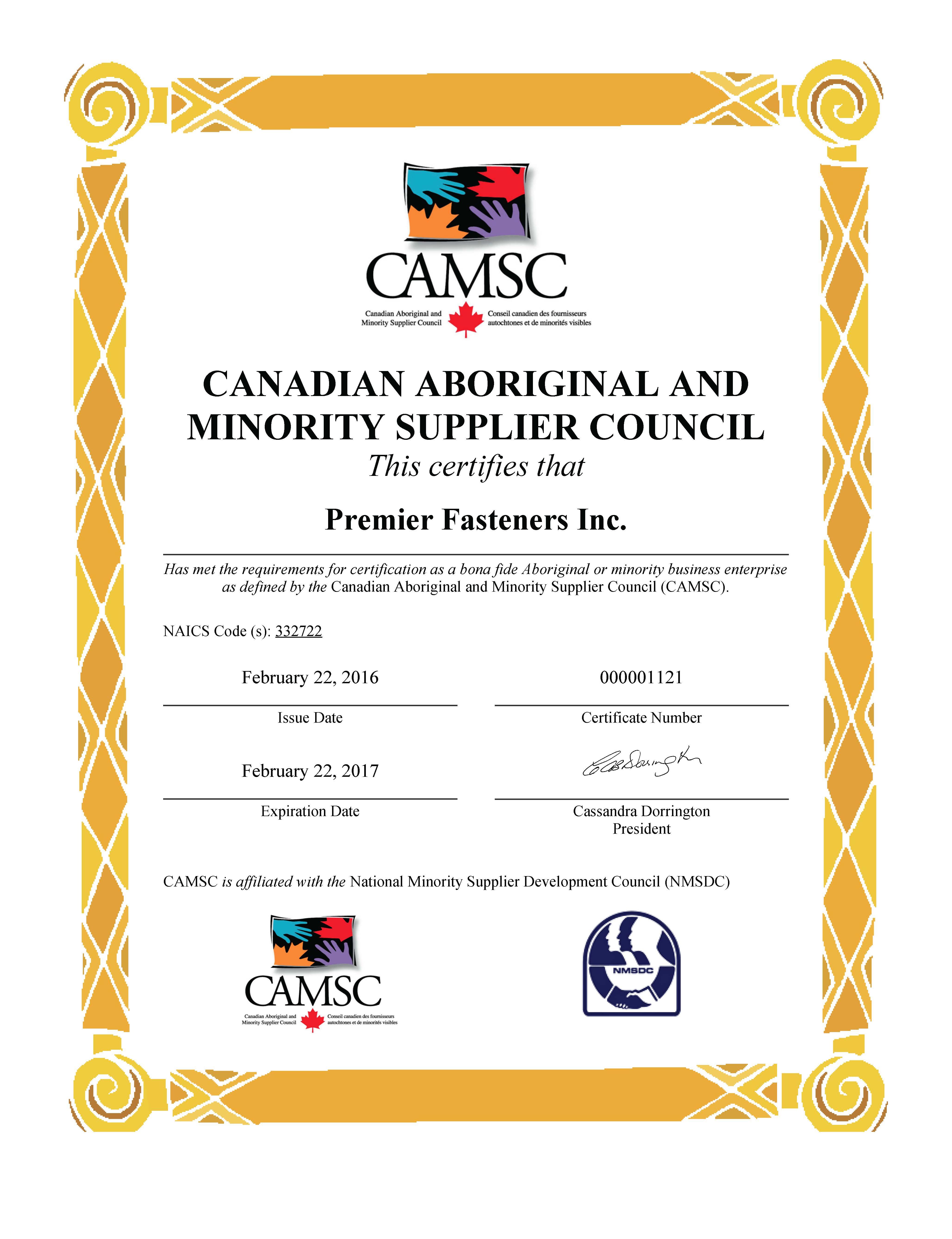 CAMSC certificate expires 20170222