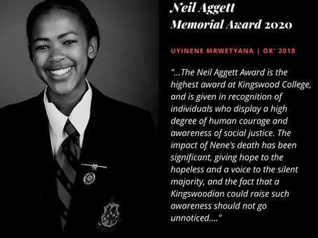 Posthumous Neil Aggett Memorial Award 2020