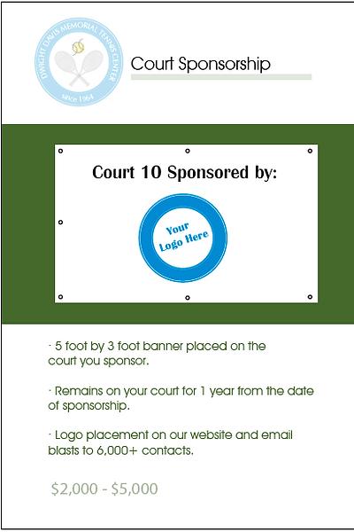 Sponsor a court