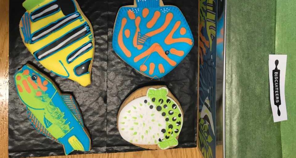 Celebratory fish biscuits