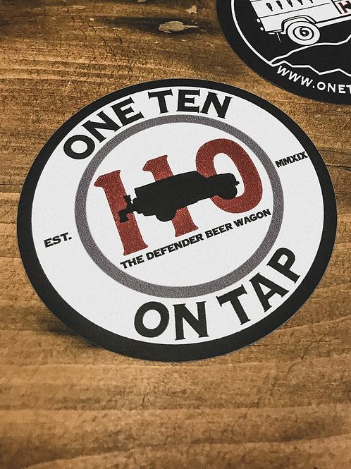 110 Logo Sticker