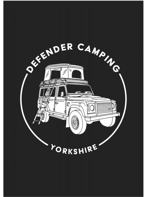 Defender Camping Tea Towel