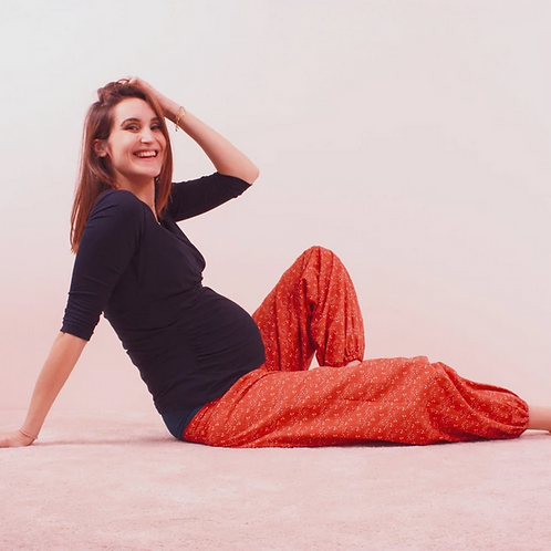 Pantalon Papaye compatible grossesse - Patron de couture Klafoutis