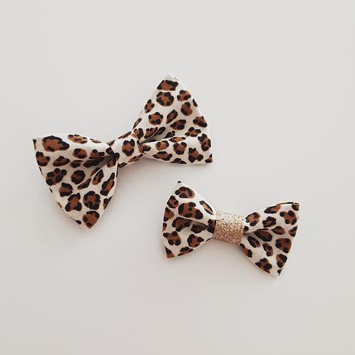 Noeud léopard/or - Les Noeuds de Maman