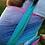 Thumbnail: Écharpe tissée Littlefrog T6 - Linen Aurora Cube