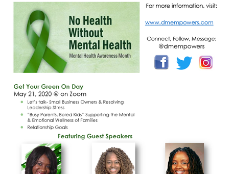 Mental Health Awareness Month 2020: Support for Small Business Owners