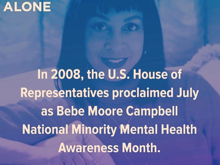 July 2020 National Minority Mental Health Awareness Month