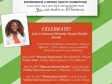 National Minority Mental Health Month 2017