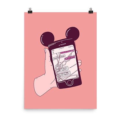 "Broken Phone Poster Print, 8""x10"" or 18""x24"""