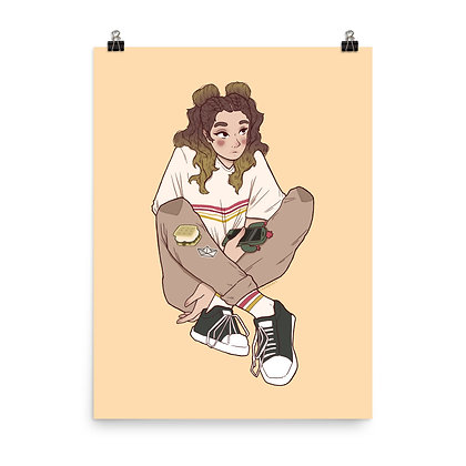 """Camp Girl Poster Print 8""""x10"""" or 18""""x24"""""""
