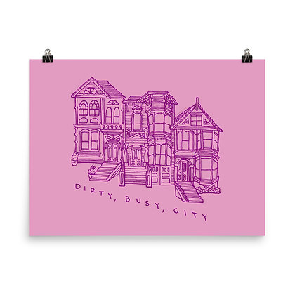"""Dirty Busy City Poster Print, 8""""x10"""" or 18""""x24"""""""