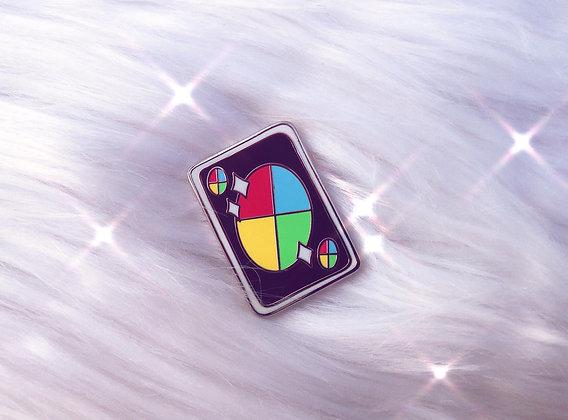 Wild Card Enamel Pin