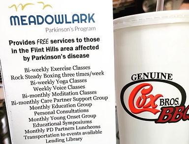 Meadowlark Parkinson's Program at Cox Bros. BBQ