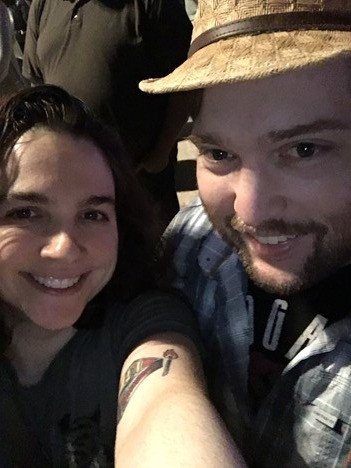 A photo of Emily and her husband, Aaron