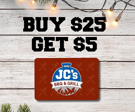 Buy $25, Get $5 Gift Card Holiday Promo