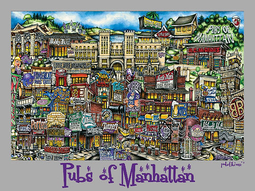 Pubs of Manhattan Poster