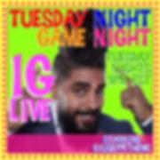 tuesday night game night 16 x 16 square
