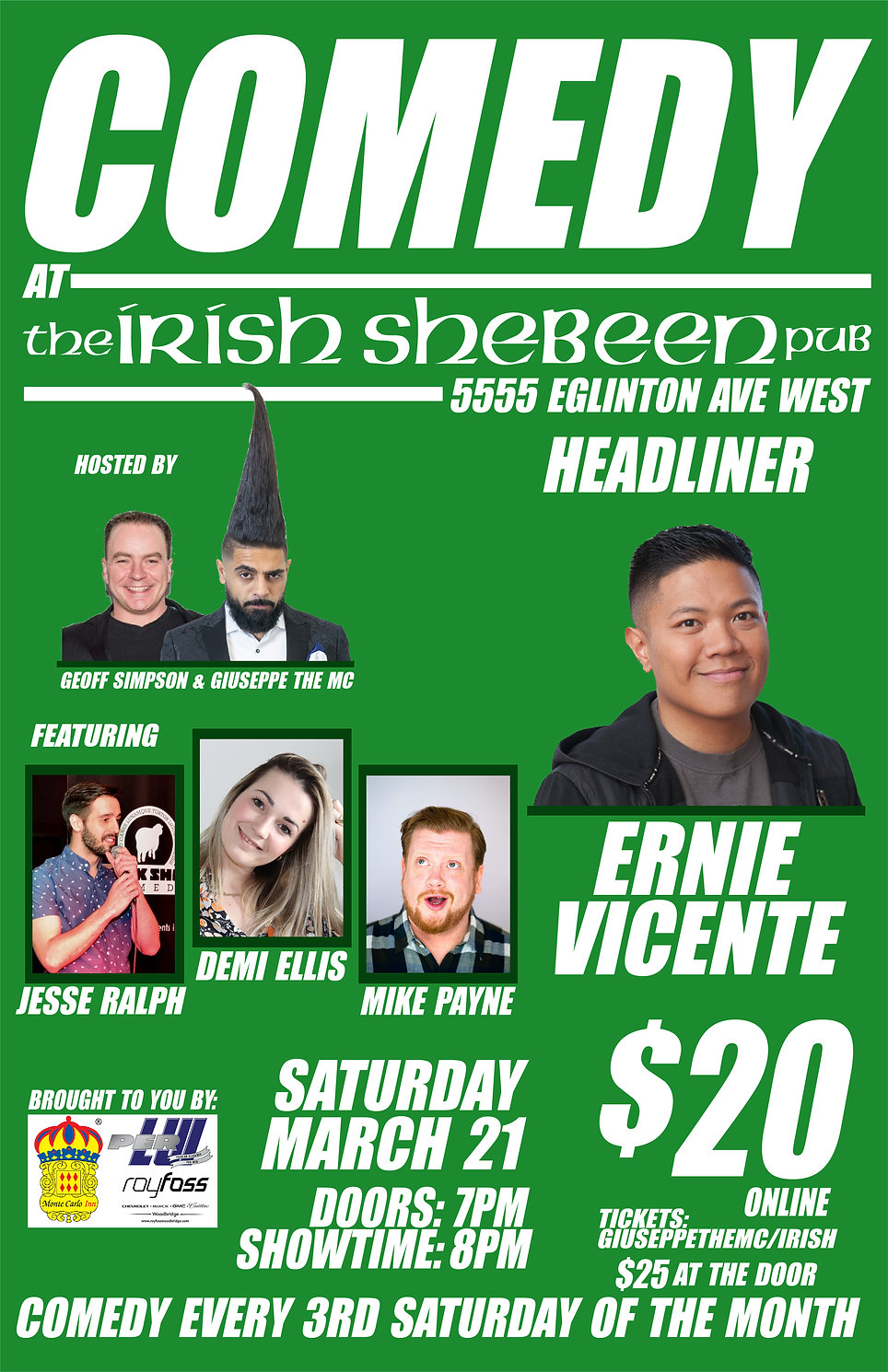 IRISH SHABEEN COMEDY MARCH 11 X 17 NEWES