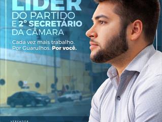 Rafa assume como Líder do PSB e 2º Secretário na Câmara Municipal de Guarulhos.