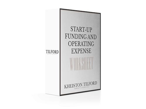 Start-Up Funding and Operating Expense Funding Worksheet