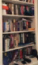 Professional Organizer Cluttered Bookshelf