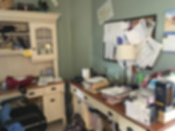 Professional Organizer - Cluttered Home Office