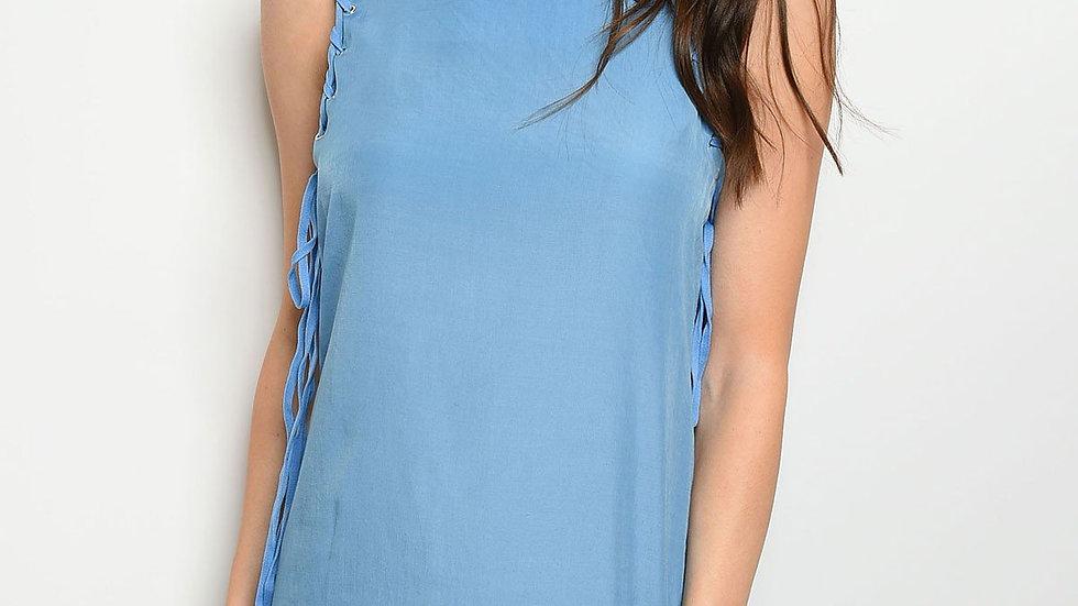 Womens Lace Blue Dress