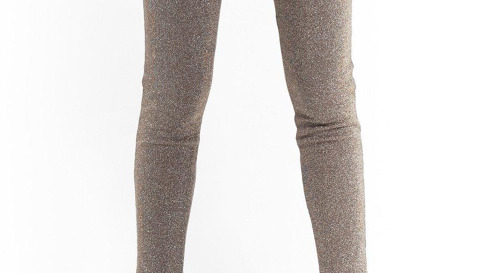 Lurex Leggings Brown