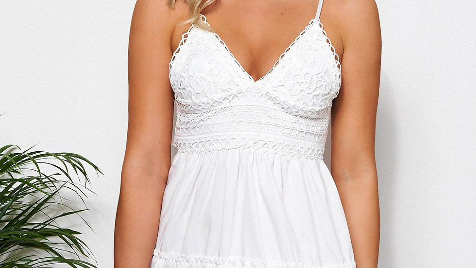 Lix White Crochet Dress