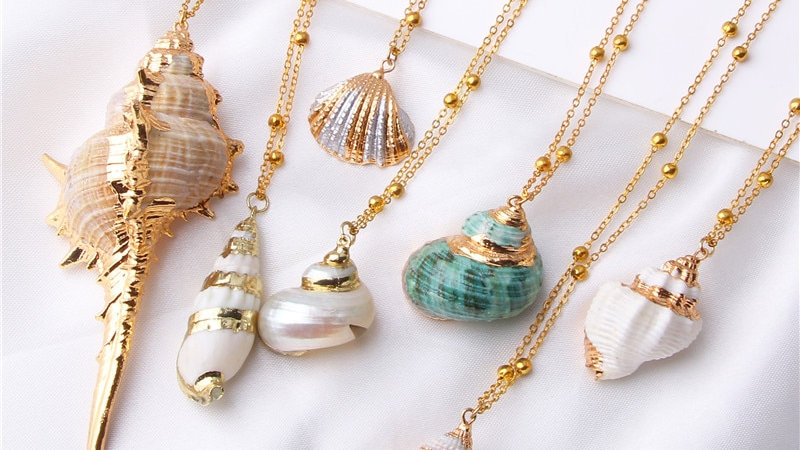 2019 Boho Conch Shell Necklace Sea Beach Shell Pendant Necklace for Women!!!!!