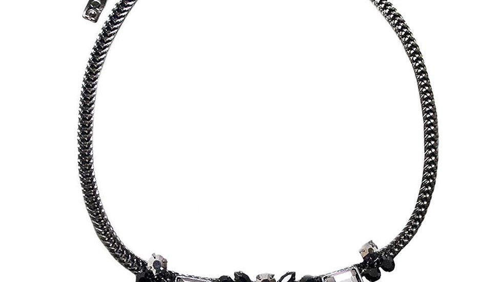 Sweet Geo Necklace - Slate Gray