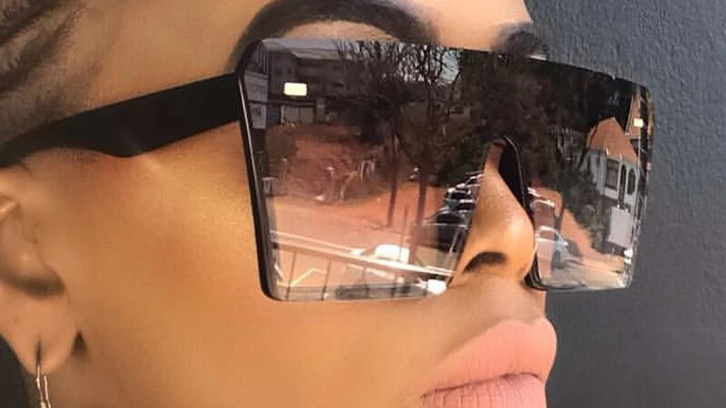 2020 Oversize Square Sunglasses Women Fashion Flat Top Gradient Sun Glasses