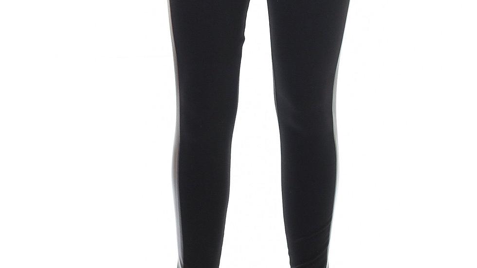 Faux Leather Detail Leggings