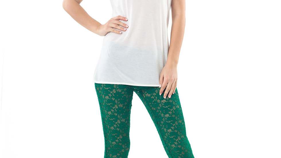 Lace Leggings Green