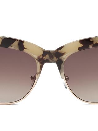 women_half_frame_round_cat_eye_sunglasse