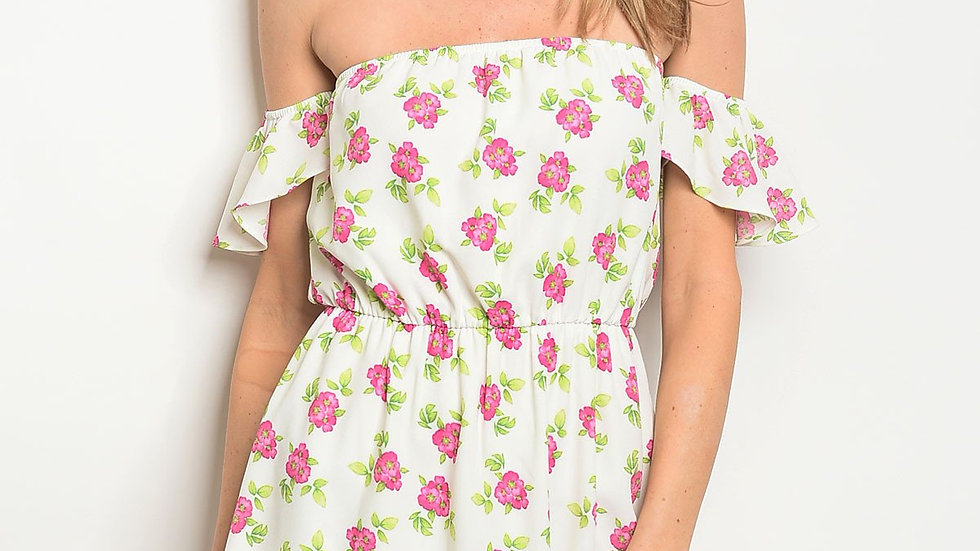 Womens Flower Print Dress