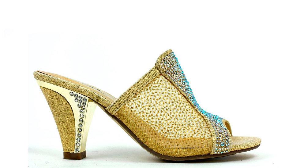 Slide in Net Heel Gold