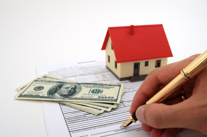Signing the papers for you new home.