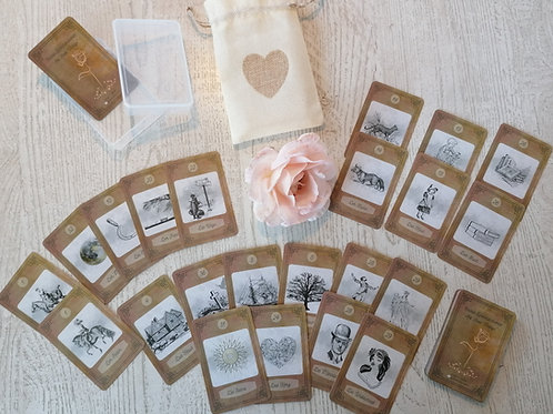 "Classic Lenormandcards Art ""Rose"" Vintage"