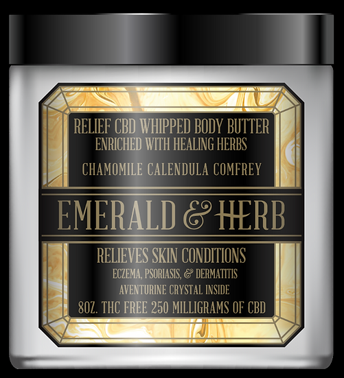 RELIEF CBD WHIPPED BODY BUTTER 6.5OZ 250MG