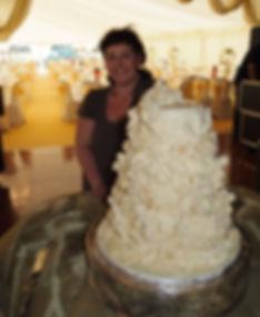 Sarah and 20kg of white chocolate Weddin