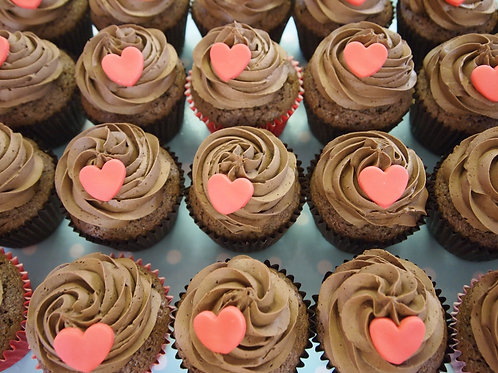BELGIAN CHOCOLATE VALENTINE'S CUPCAKES