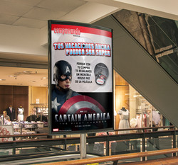 Vía Pública - Capitán América