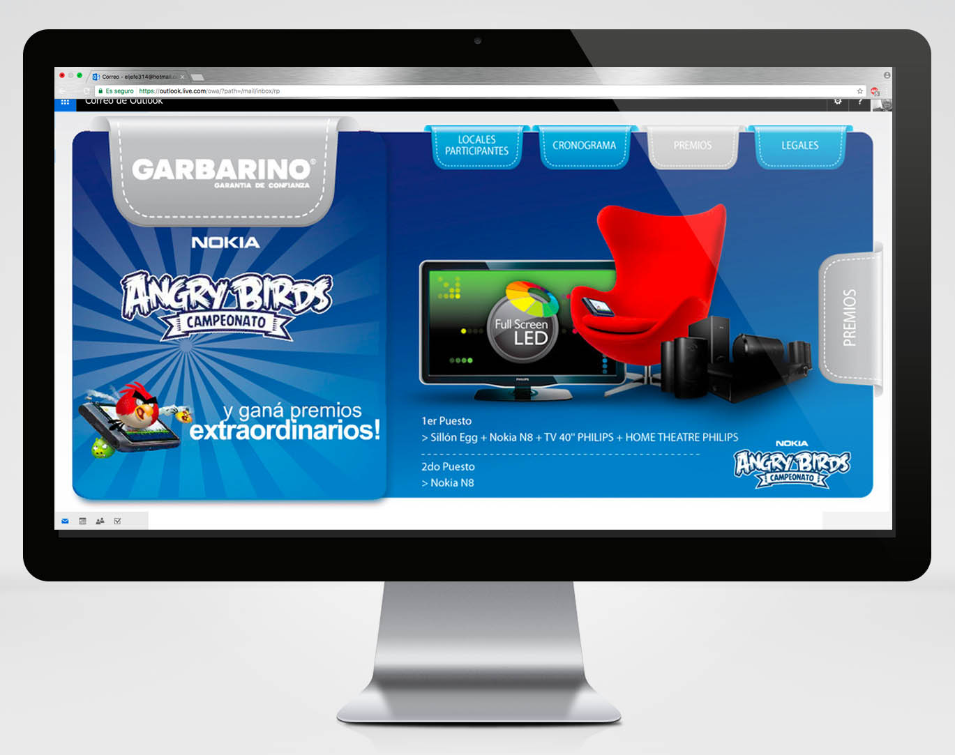 Microsite Angry Premios