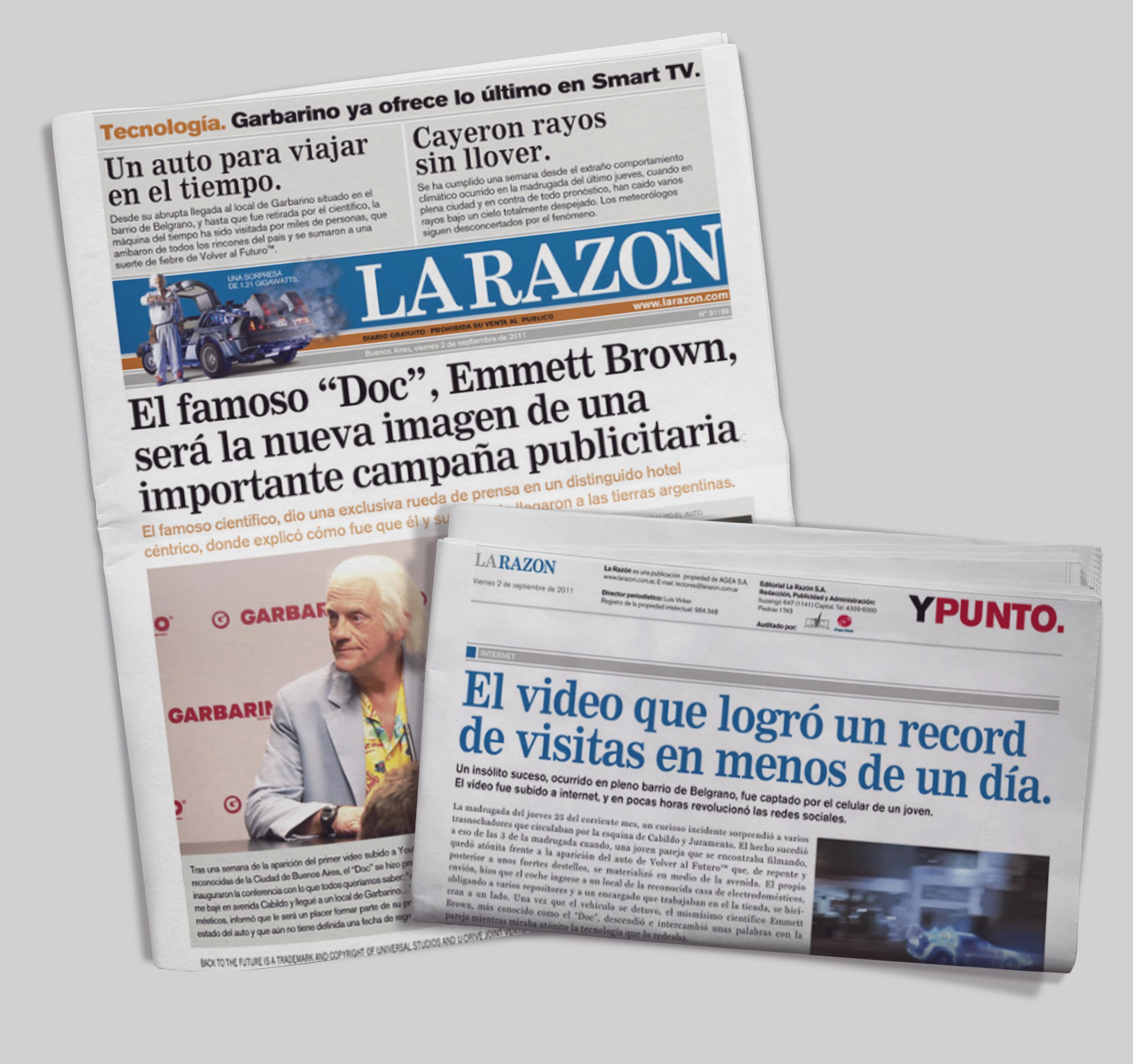 Tapa Falsa La Razón
