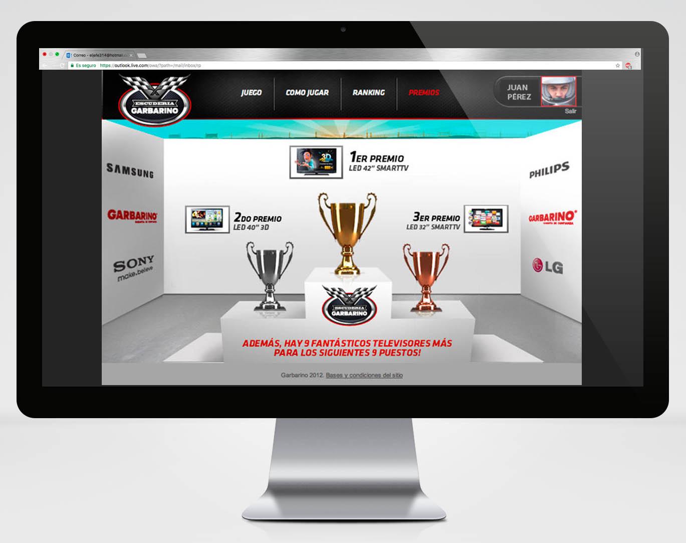 Microsite F1 Premios